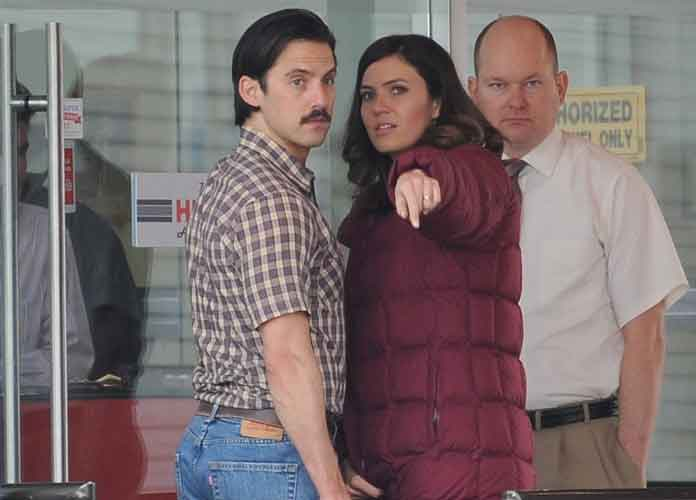 Mandy Moore Returns To Set Of 'This Is Us' [PHOTOS]