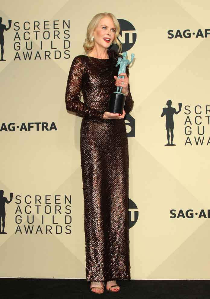 Nicole Kidman Shines In Armani As She Wins Big At SAG Awards