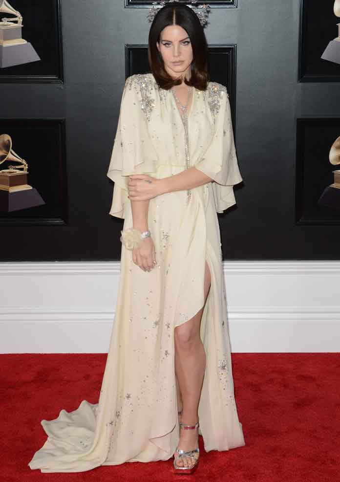 Lana Del Rey Dressed In Head To Toe Gucci At The Grammys