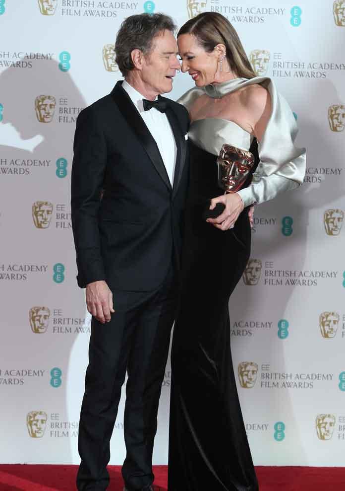 Allison Janney & Bryan Cranston Get Silly At 2018 BAFTA Awards