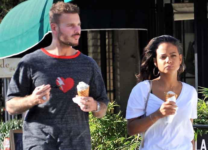 Christina Milian & Boyfriend Matt Pokora Grab Ice Cream In Studio City
