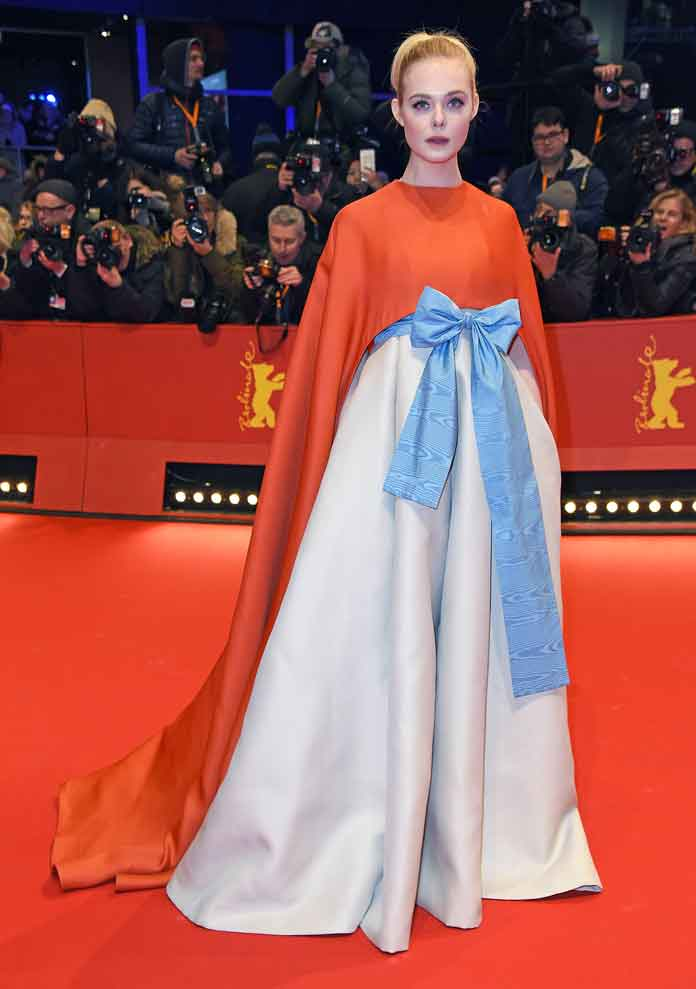 Elle Fanning Wears Valentino Couture To Berlin Film Festival