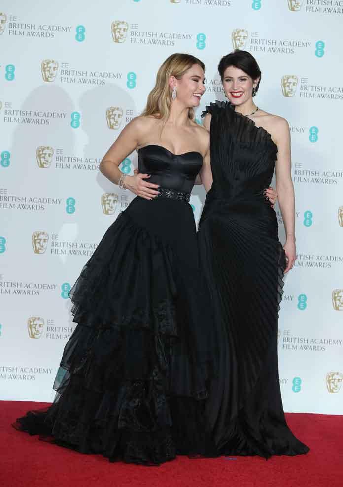 Lily James & Gemma Arterton Present Award At 2018 BAFTAs