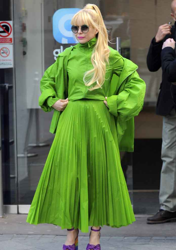 Paloma Faith Commands Attention In Lime Green Jasper Conran Dress