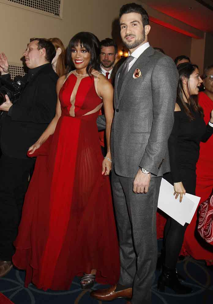 Rachel Lindsay & Other Celebs Wear Red For American Heart Association During New York Fashion Week