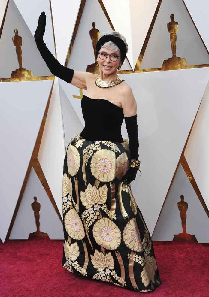Rita Moreno Wears Same Dress To Oscars As She Did In 1962