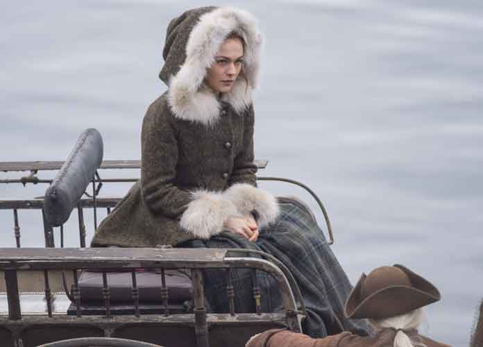 Sophie Skelton Films 'Outlander' Season Four Wearing Period Piece Costume