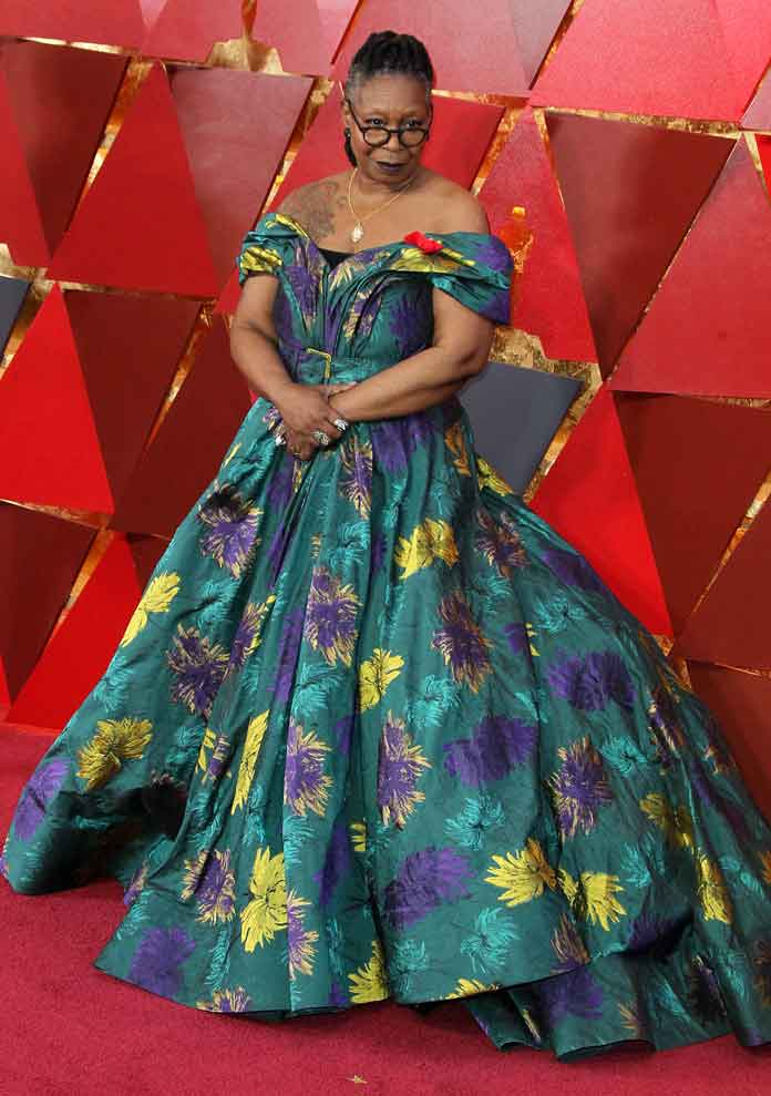 Whoopi Goldberg Attends 2018 Oscars In Stunning Christian Siriano Gown