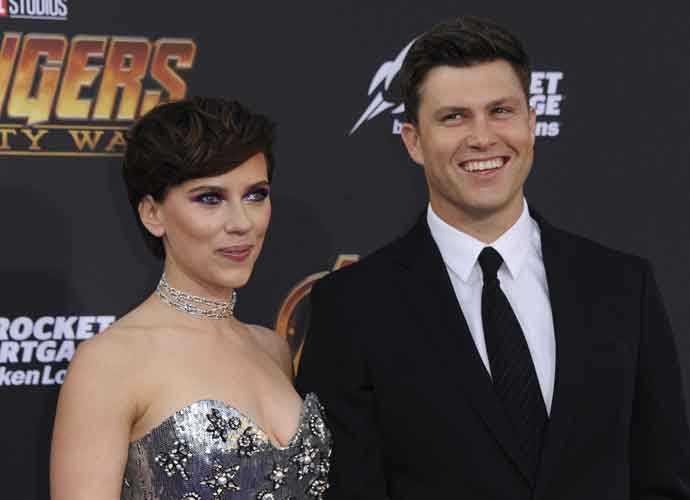 Scarlett Johansson & Colin Jost Make Their Red Carpet Debut At 'Avengers' Premiere