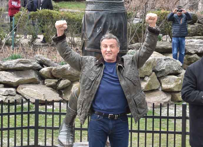 Sylvester Stallone Visits Iconic 'Rocky' Statue In Philadelphia
