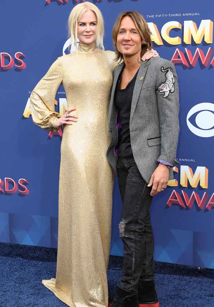 Keith Urban & Nicole Kidman All Smiles Together Before ACM Awards