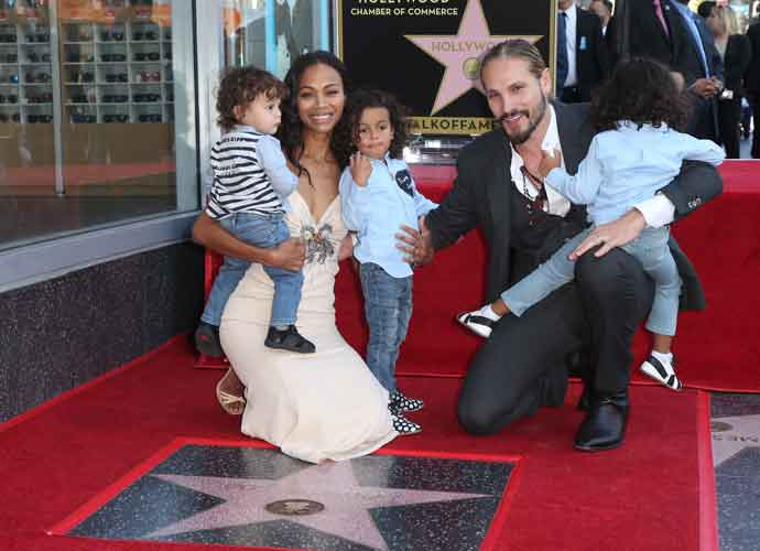 Zoe Saldana Receives Star On Hollywood Walk Of Fame