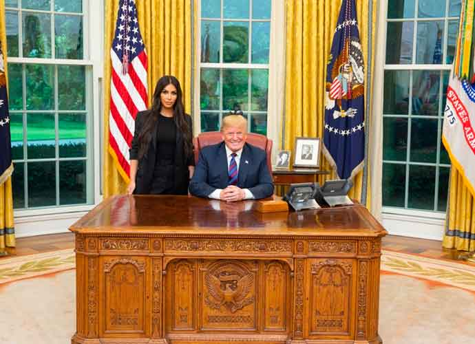 Kim Kardashian Meets With President Trump About Criminal Justice Reform In Oval Office