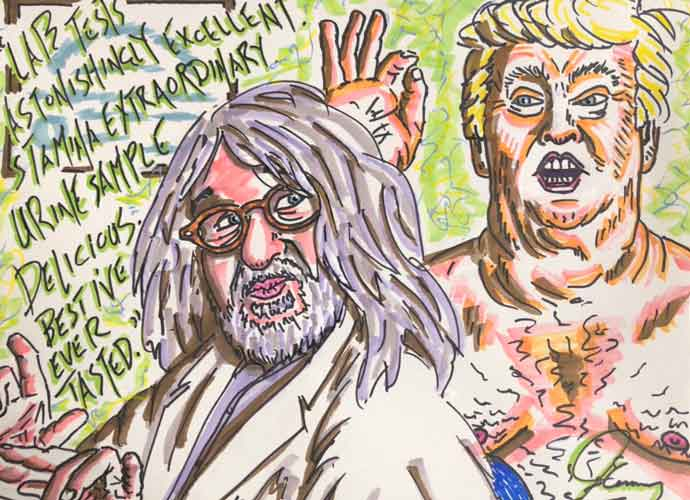 Jim Carrey Paints Creepy Portrait Of Naked Donald Trump With Dr. Harold Bornstein
