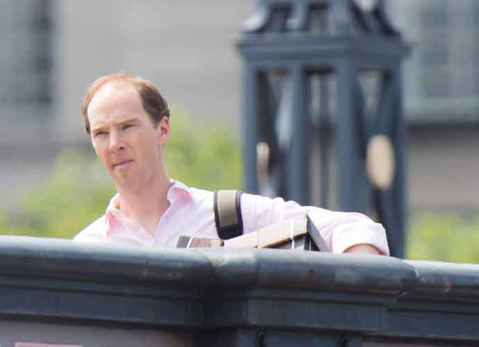 A Bald Benedict Cumberbatch Films Channel 4 Brexit Drama In London