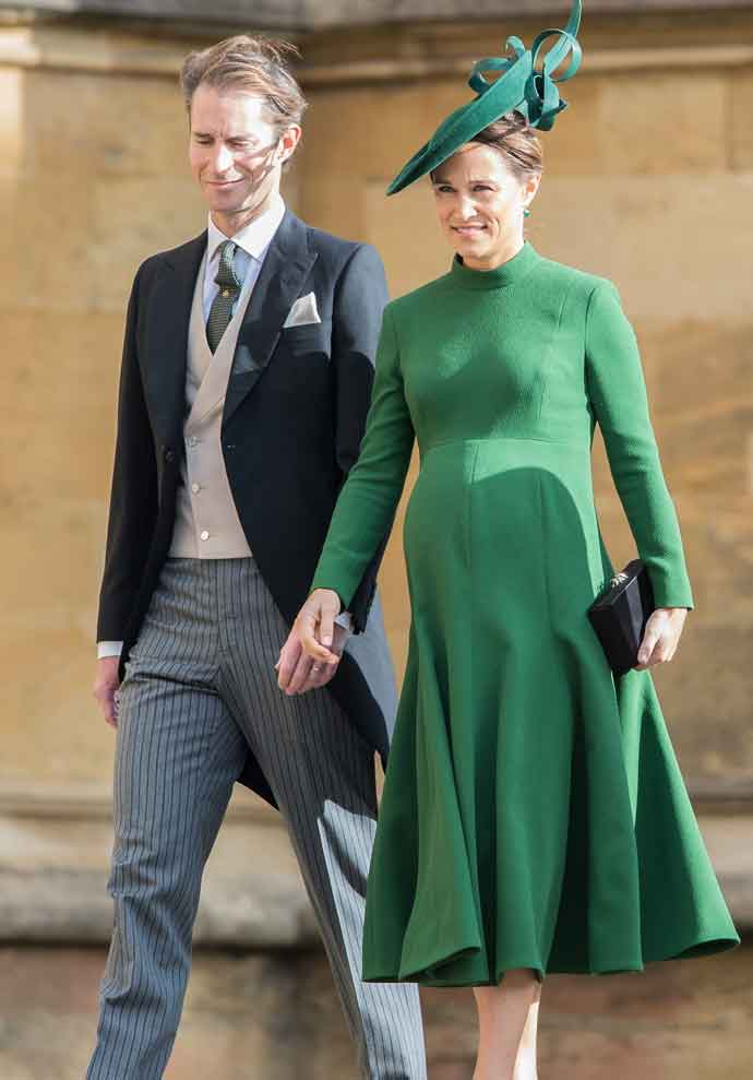 Get The Look: Pippa Middleton Spotted Wearing Emerald Green Dress At Princess Eugenie & Jack Brooksbank's Wedding