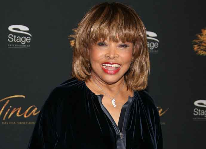 Tina Turner Dazzles In Blue Velvet At German Premiere Of New Musical 'Tina – The Tina Turner Musical'