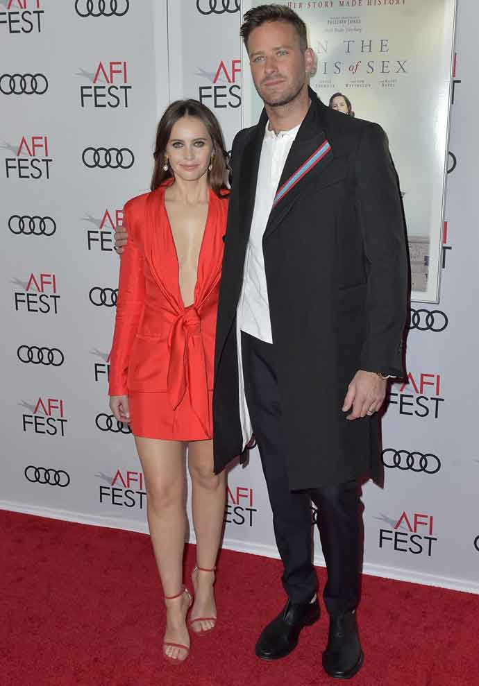 Felicity Jones & Armie Hammer Shine On Red Carpet At 2018 ARI Fest Screening Of 'On The Basis Of Sex'
