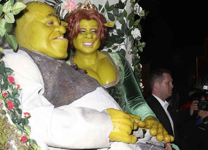 Heidi Klum & Boyfriend Tom Kaulitz Dress Up As Princess Fiona & Shrek For Her Annual Halloween Party