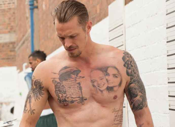Joel Kinnaman Goes Shirtless To Show Off Tattoos On Set Of Film 'The Informer' [PHOTOS]
