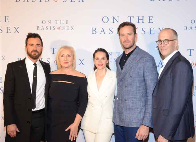 Justin Theroux, Felicity Jones & Armie Hammer Attend 'On The Basis Of Sex' Premiere