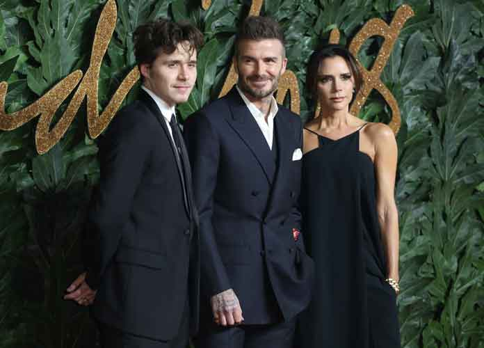 David, Victoria & Brooklyn Beckham Have Family Night At British Fashion Awards 2018