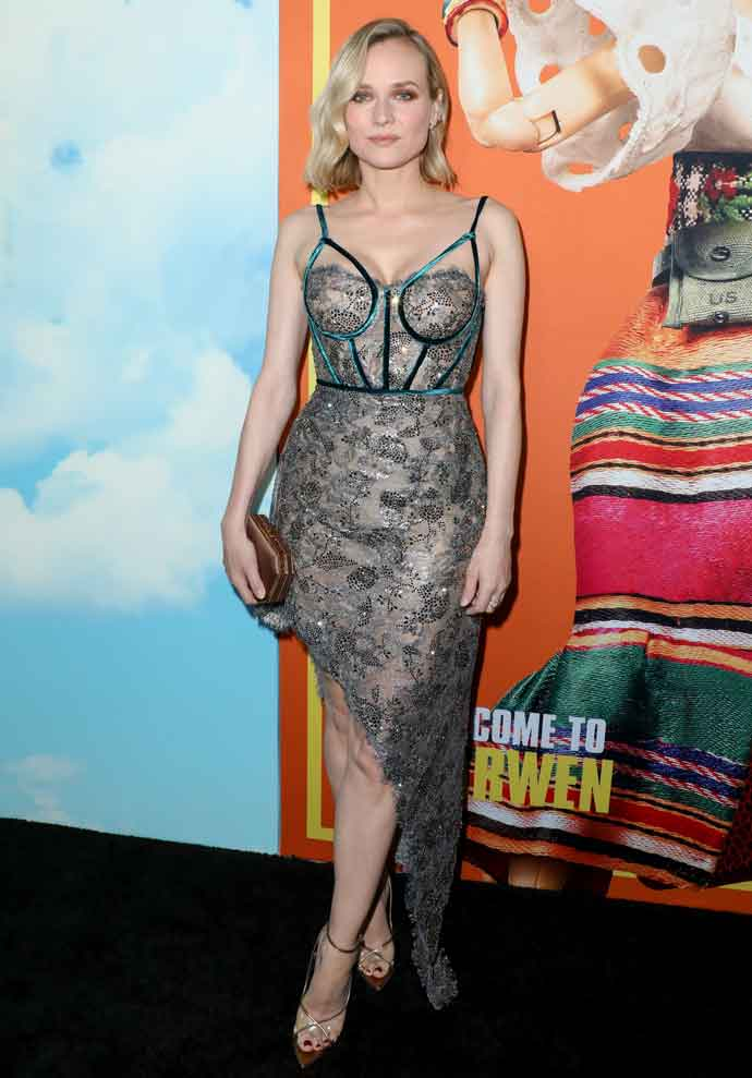 Diane Kruger Sparkles In Metallic Dress At The 'Welcome To Marwen' Premiere