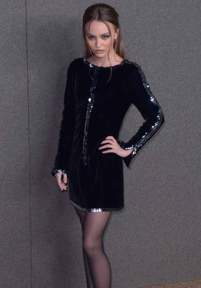 Lily-Rose Depp Goes Edgy In A Velvet Mini Dress At Chanel's Metiers D'Art Show At The Met