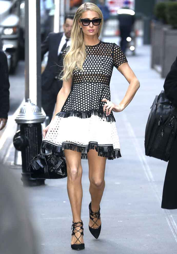 Paris Hilton Flaunts Her Long Legs While Out And About In New York