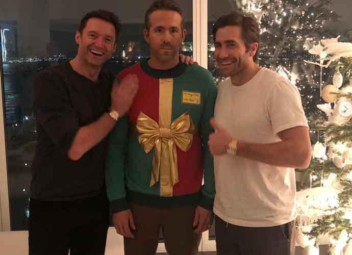 Jake Gyllenhaal & Hugh Jackman Prank Ryan Reynolds With Fake Sweater Party