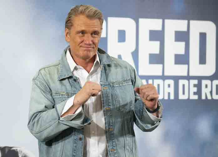 Dolph Lundgren Attends 'Creed II' Photocall In Madrid, Makes Boxing Pose
