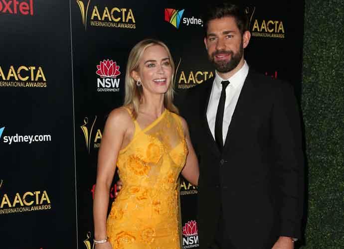 John Krasinski & Emily Blunt Attend AACTA International Awards Together