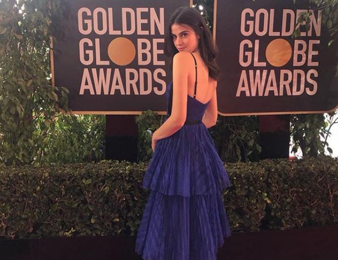 Fiji Water Girl Kelleth Cuthbert Photobombs Celebrities At 2019 Golden Globe Awards