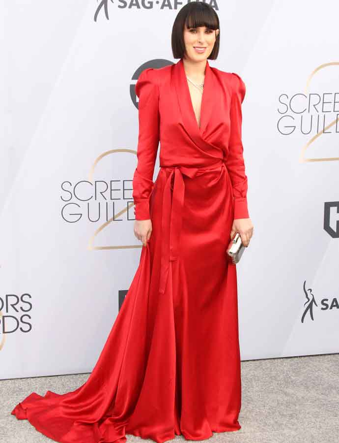 Rumer Willis Dazzles In Red At SAG Awards