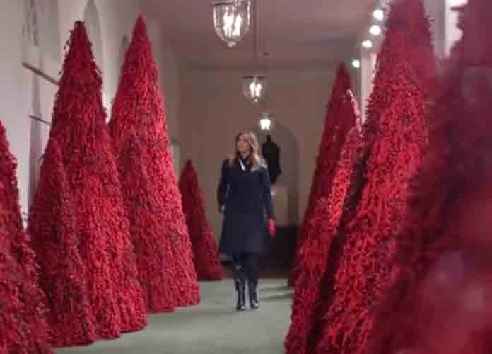 Melania Trump Defends White House's Red Christmas Trees After Criticism, Sparks Memes On Twitter [BEST MEMES]