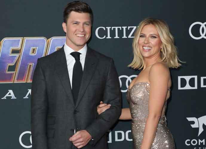 Scarlett Johansson & Colin Jost Kiss On  'Avengers: Endgame' Premiere