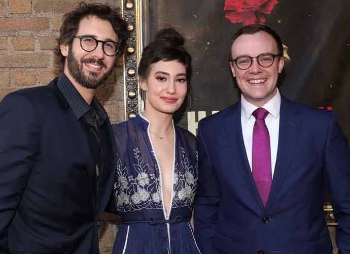 Josh Groban & Girlfriend Schuyler Helford Meet Chasten Glezman At 'Hadestown' Broadway Premiere