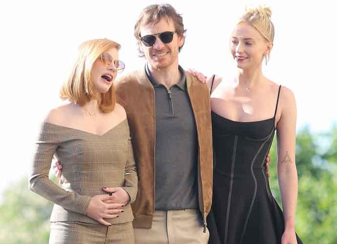 Sophie Turner, Jessica Chastain& Michael Fassbender Head To Eiffel Tower For 'X-Men: Dark Phoenix' Tour