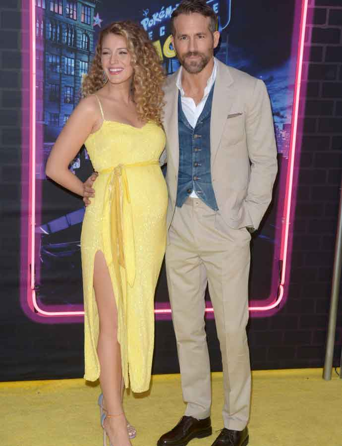 Blake Lively Debuts Baby Bump At 'Detective Pikachu' Premiere, Pregnant With 3rd Child With Ryan Reynolds