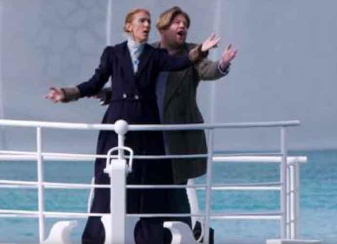 Celine Dion & James Corden Dress Up 'Titanic's Rose & Jack For 'Carpool Karaoke' [VIDEO]
