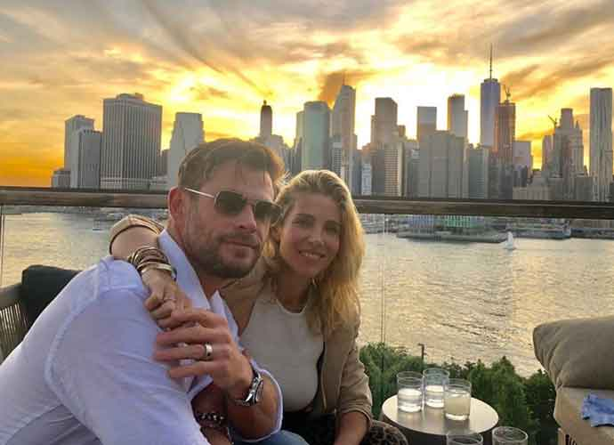 Chris Hemsworth & Wife Elsa Pataky Take In Manhattan Skyline Dining On Hudson River