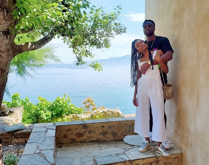 Dwayne Wade & Wife Gabrielle Union-Wade Strike A Posh Pose In Monesmvasia, Greece