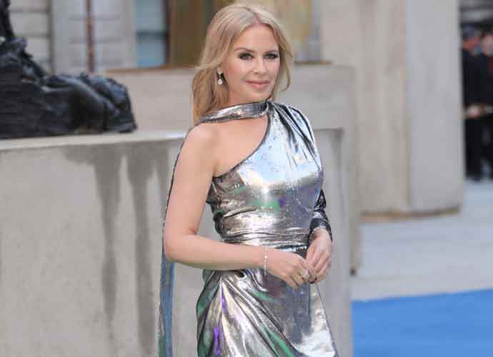 Kylie Minogue Goes Grecian At The Royal Academy's Summer Party