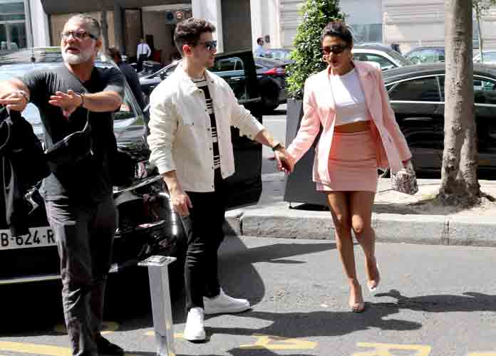 Nick Jonas & Priyanka Chopra Arrive At Hotel In Paris