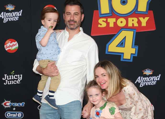 Jimmy Kimmel, Wife Molly McNearney & Kids At Premiere Of 'Toy Story 4'
