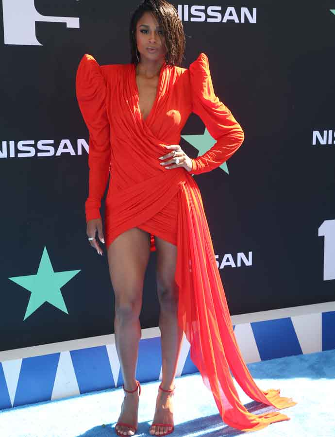 Ciara Shines On The Blue Carpet For 2019 BET Awards