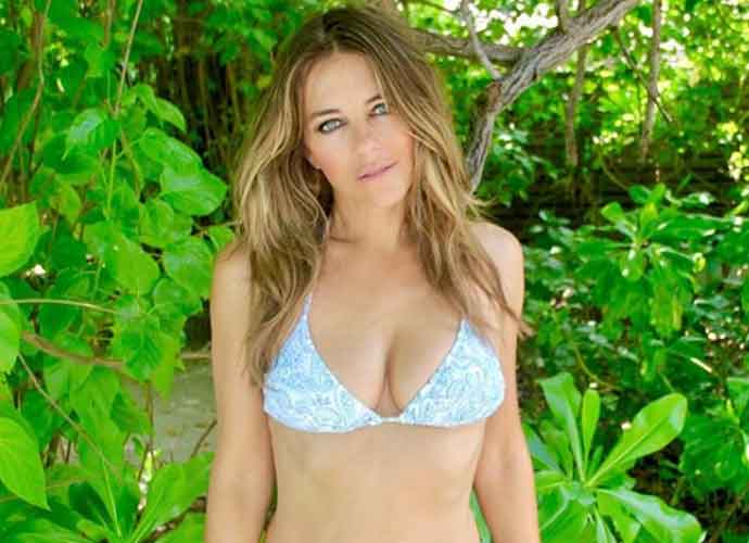 54-Year-Old Elizabeth Hurley Looks Smoking Hot In A Tiny Blue Bikini [PHOTOS]