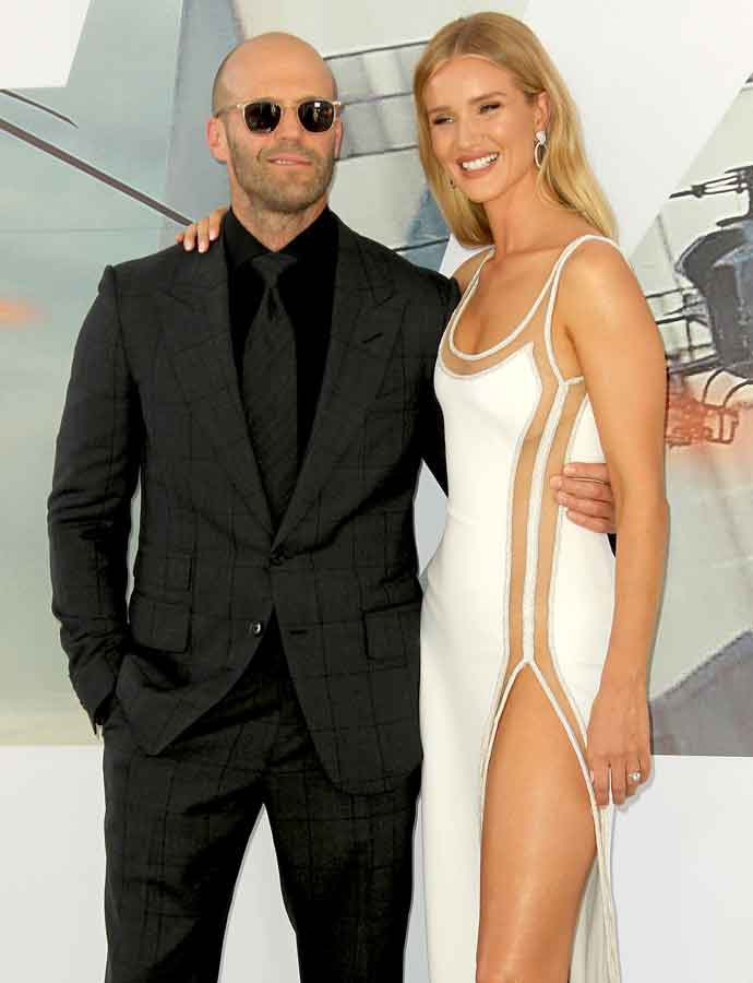 Jason Statham & Rosie Huntington-Whiteley Get Close At 'Hobbs & Shaw' Premiere