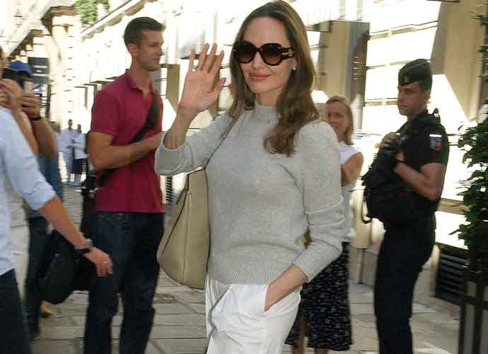 Angelina Jolie Looks Chic Leaving Hotel In France