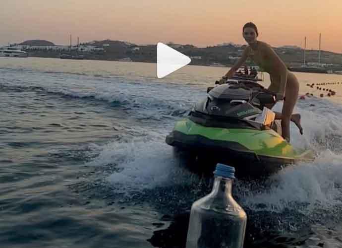 Kendall Jenner Takes #BottleCapChallenge On A Jet Ski